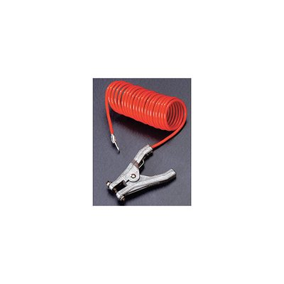 Dây Tiếp Đất, dài 10 ft. (Insulated Coiled Grounding Wire with Hand Clamp Connector , length 10ft.)